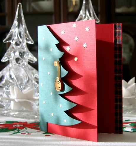 Quilled Christmas Card with Gilded Ornament