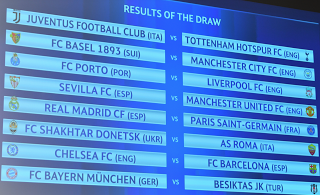 Champions League Round of 16 Draw Sees Real Madrid Face PSG
