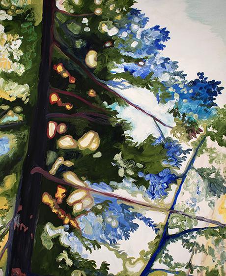 Detail: Window. 48″ x 48″, Oil on Wood, © 2017 Cedar Lee