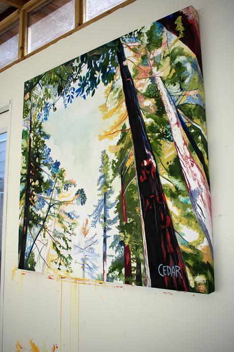 Window. 48″ x 48″, Oil on Wood, © 2017 Cedar Lee