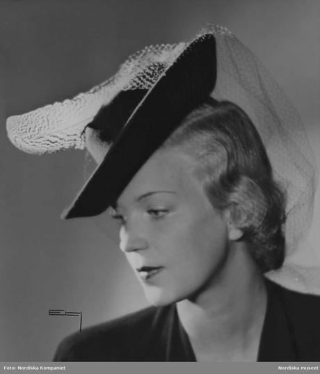 1942 Mexican Sombrero hat and veil
