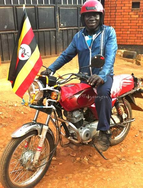 Boda boda motorbike driver. PHOTO Amy Fallon