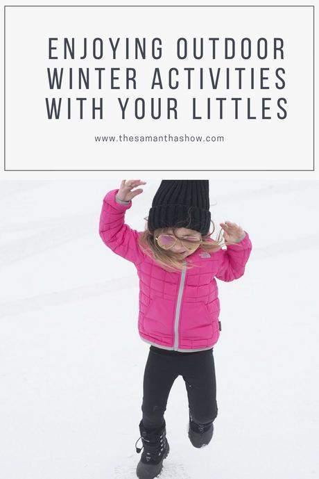 Enjoying outdoor winter activities with your littles