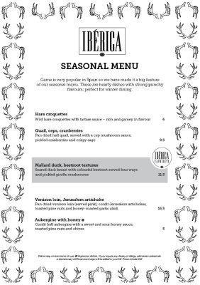 Food review: winter game menu at Iberica