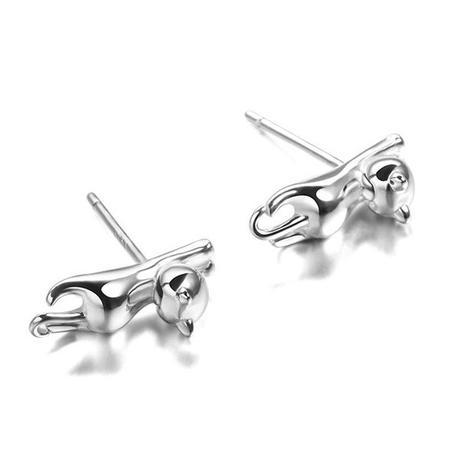 studs cat earrings