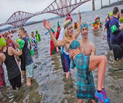 New Year's Celebrations: South Queensferry Loony Dook