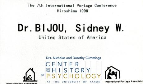 Sidney Bijou Papers Open for Research
