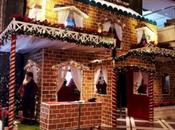 Christmas Arrives Early Leela Ambience, Gurugram with High Gingerbread House