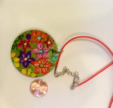 Painted Wooden Discs for Necklaces