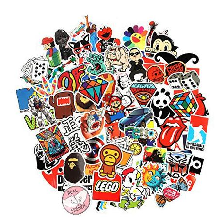 8 Series Stickers 100 pcs/pack Stickers Variety Vinyl Car Sticker Motorcycle Bicycle Luggage Decal Graffiti Patches Skateboard Stickers for Laptop...