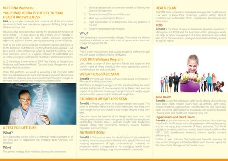 VLCC DNA Wellness Program