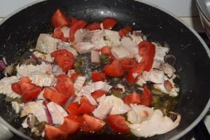 La mia dadolata di pesce spada alla mediterranea. My recipe of swordfish at mediterranean style°