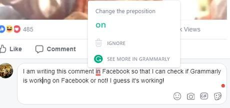 grammarly for facebook