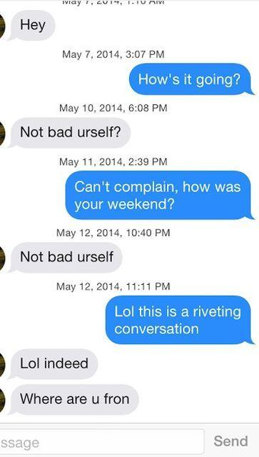 How to make conversation online dating