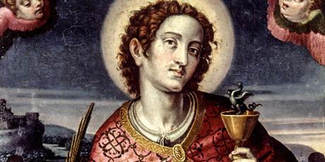 What does St. John the Evangelist have to do with wine and snakes?