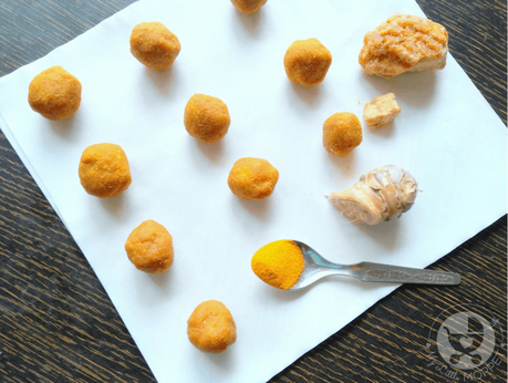 This winter, give your toddler an immunity boost with kitchen staples with these Jaggery Ginger Turmeric Balls - an easy, no-cook kid-friendly recipe!