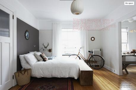 House tour a vintage but minimal toronto apartment for Minimalist bedroom tour