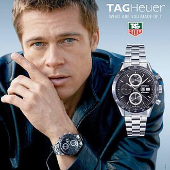 Timepiece thursday brad pitt cameron diaz and katy perry wear luxury watches paperblog for Celebrity watches male