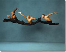 AAADT's J. Roberts, A. Douthit and C. Brown in Alvin Ailey's Revelations.  Photo by Andrew Eccles