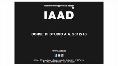 IAAD Scolarship fro 2012 - 2013
