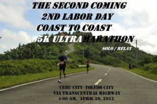 2ND LABOR DAY COAST TO COAST 65K ULTRAMARATHON