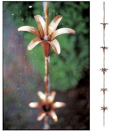 Rain Chain copper floral