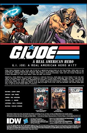 G.I. Joe: A Real American Hero #177 pg 1