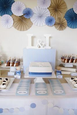 Twin Christening Party  by Party Cakes Canberra