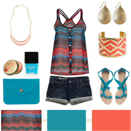 Tribal + Teal + Coral…