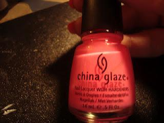 Pink Dazzle Nail look.