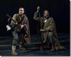 (left to right) Will B. Kirkland (Stephen Louis Grush) and Arly Wilcox (ensemble member Ian Barford) come upon Union forces after being recruited into the Confederate militia in Steppenwolf Theatre Company's world-premiere production of The March, based on the novel by E.L. Doctorow, adapted and directed by ensemble member Frank Galati. The March runs April 5 – June 10, 2012 in Steppenwolf's Downstairs Theatre (1650 N Halsted St).