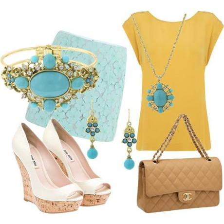 x2028 Sheva Turquoise and Crystal Summer Cool