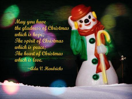 Christmas wishes of hope, peace, and love.