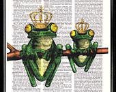 The princess and the Frog  - Etsy Treasury
