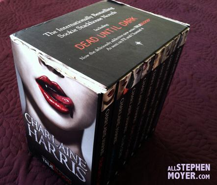 Charity Auction: Unique Box set of 8 Sookie Stackhouse Books UK Edition signed by Charlaine Harris, Anna Paquin and Stephen Moyer