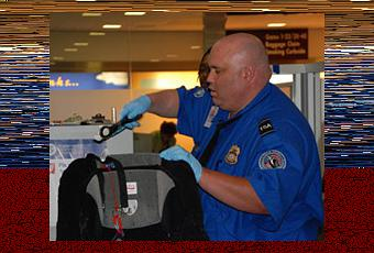 Watch NAKED airport worker walk through scanner in bizarre protest against rough guards