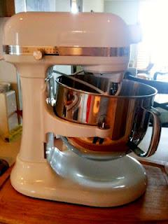 Baking with my new Kitchen Aide Stand Mixer!