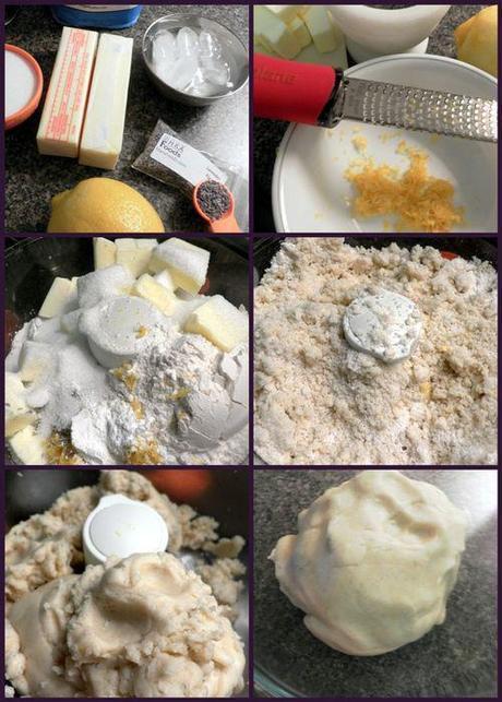 Lemon lavendar short breads -dough collage