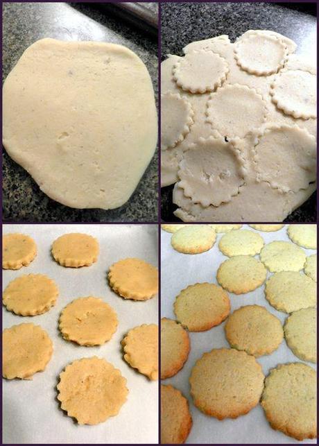 Lemon lavendar short breads - cookie baking collage