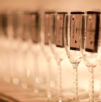 Escort Cards & Beverage Glasses