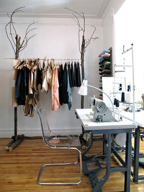 Industrial Garment Rack from Urban Outfitters = Decor + Utility