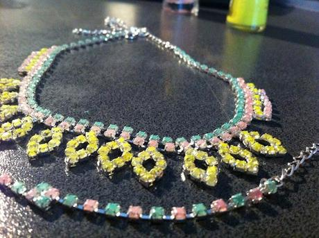 Diy DANNIJO inspired pastel/neon necklace