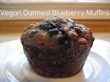 Vegan Oatmeal Blueberry Muffins 650x487 Vegan Oatmeal Blueberry Muffins