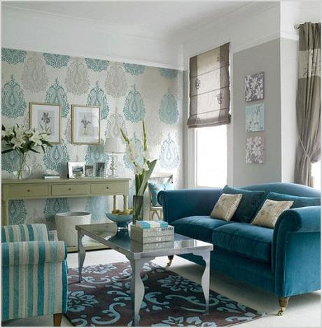 blue living room decoration 652
