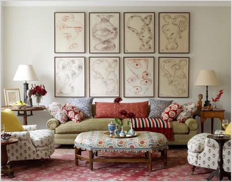 global style eclectic mix exotic flair elle decor living room bedroom peter dunham colorful