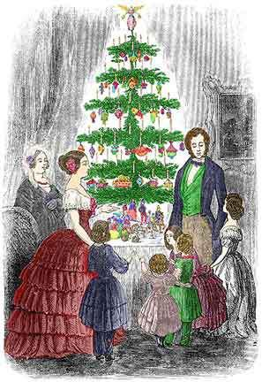 Image result for victorian era christmas trees