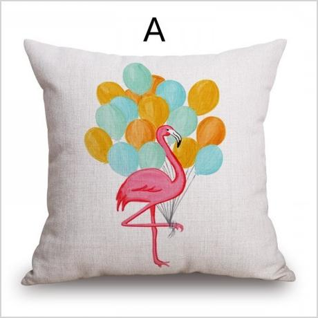 flamingo decorative pillows living room hand painted style animal cushions design