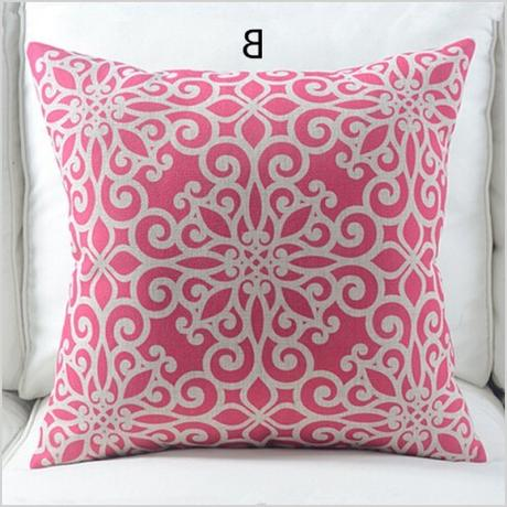 nordic style pink geometric decorative throw pillows living room 18 inch