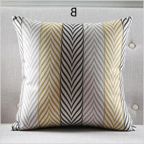 nordic style geometric decorative throw pillow living room 18 inch sofa cushions 0