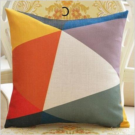 colorful geometric decorative throw pillow living room